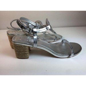 Tory Burch Shoes - Grey Miller Logo T-Strap Sandal, Size 9